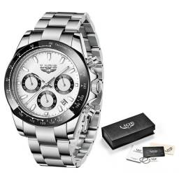 Relógio Lige Quartzo Luxo Elegante