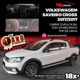 Título do anúncio: VolksWagem SaveiroCross Cabine Dupla 1.6 16v 2017/2017 - Vendo, Troco e Financio