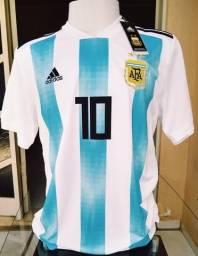 c4d44eb43 Camisa Argentina copa Rússia 18 19 promoção