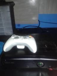 Xbox 360 slim destravado na L.T 3.0+1 controle original+ 50+ garantia de 90 dias