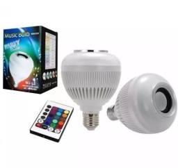 (NOVO) Lâmpada Bluetooth Led e Caixa De Som + Controle