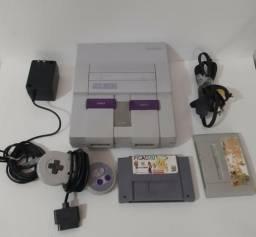 Super Nintendo bem conservado com controle 2 jogos