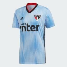 Camisa São Paulo III 19/20 s/n° Torcedor Adidas Masculina - Azul e Vermelho