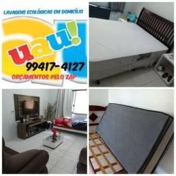 Promoção lavagem de sofá cama e banco de carro