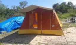 Barraca Camping 5/6 Pessoas Antiga Excelente - Troco