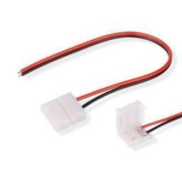 Emenda conector fita led 10mm 2 vias 5050 e 3528 com fios
