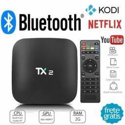 (987853543)Aparelho Smart Tv Box Tx2 4k 16gb 2gb Ram Bluetooth Wifi