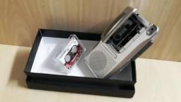 Mini Gravador Portátil - Com 1 Fita - Funcionando