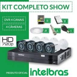 Kit 4 Câmeras de Segurança ( Intelbras )