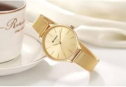 Várias cores Relógio feminino curren 9024 milanese dourado/rosê/preto a prova d'água comprar usado  Brasilia