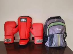 Kit luvas Punch + caneleiras Rudel + mochila Fila