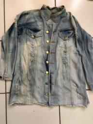 Sobretudo jeans (jaqueta grande)
