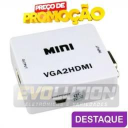Cabo Conversor Adaptador Vga Para Hdmi Com entrada de audio P2, usado comprar usado  Campo Grande
