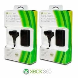 Kit bateria+cabo para controle Xbox 360 comprar usado  Fortaleza