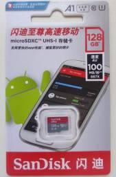Cartao de Memoria Micro SD SanDisk Ultra 128gb Classe 10 / 32GB, 64GB, 128GB, 256GB
