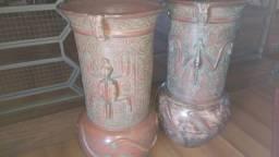 Par de Vasos em Ceramica Marajoara- Peças raras - bom gosto e qualidade