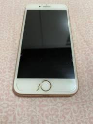 Iphone 8 256g novo cor rose novo sem arranhão bateria nova celular novo *
