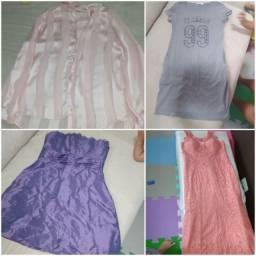 Lote roupas femininas