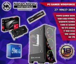 PC Gamer Intel Core i5 10400F + RX 570 Aorus + 8GB HyperX + SSD + HD - Loja Natan Abreu
