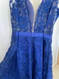 Título do anúncio: Vestido Azul Royal Curto