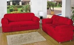 Título do anúncio: Capas de sofá 2 3 lugares elasticada