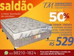 Título do anúncio: Parcelamos Sem Juros! Box Casal 10CM Espuma Selada! Entrega Grátis!!