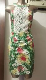 Título do anúncio: Vestido floral com renda da enjoy Tam  M