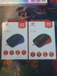 Mouse com fio Vermelho/Azul