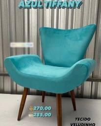 Título do anúncio: Poltrona Azul Tiffany Veludo