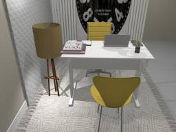 Título do anúncio: Mesa de Escritório White textured MDF, 100cm x 50cm x 74cm