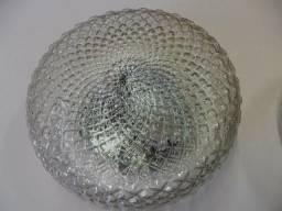 Título do anúncio: lustre globo antigo bico de jaca transparente completo