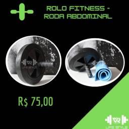 Título do anúncio: Rolo fitness - roda para abdominal - R$ 75,00