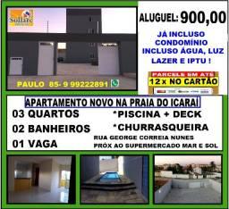 Título do anúncio: Alugo Apartamento Novo na Praia de Icaraí, 03 Quartos e Lazer Com Piscina