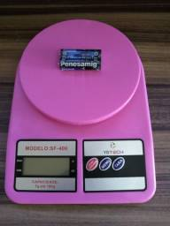Promoção Linda Balança Digital Na Cor Rosa e Amarelo + 2 Pilhas De Brinde