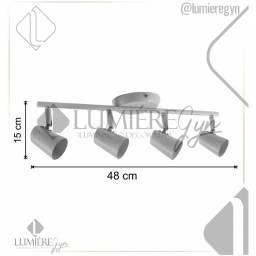 Título do anúncio: Spot Trilho MY1004BCO Para Lâmpada 15X48cm - Gu10 Cobre Bronzearte