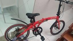 Título do anúncio: Vendo bicicleta dobrável praticamente sem uso.