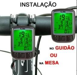 Título do anúncio: Computador p/ Bicicleta Velocimetro 27 Funções Prova d'Água Luz Noturna