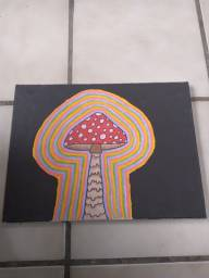 Quadro cogumelo psicodélico