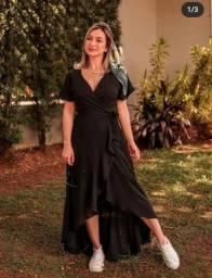 Título do anúncio: Vestido envelope preto