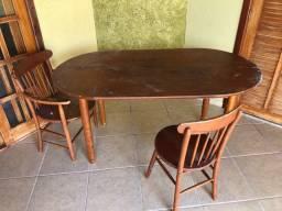 Mesa madeira reforma