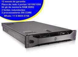 Título do anúncio: Servidor Dell R710 - Processador 2x Sixcore - 64 GB de ram - 1 tera de HD
