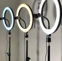 Ring Light Iluminador - Tripé 2 metros / com suporte para celular - 10 Polegadas