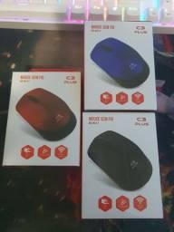 Mouse sem Fio Vermelho/Preto/Azul