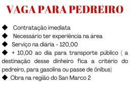 Vaga para PEDREIRO