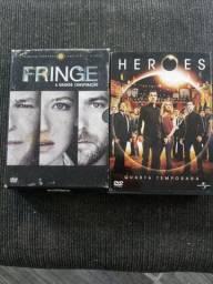 Box Fringe e Heroes 30 reais cada