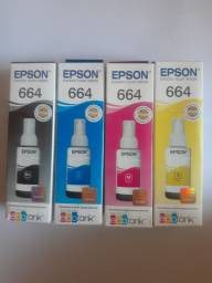 Refil da Epson 664 Black,Cyano,Magenta,Yellow