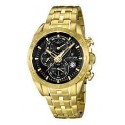 Relógio Festina Chronograph Dourado F16656