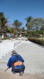Fabricação e assentamento de pisos