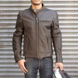 Jaqueta Revit couro marrom - tamanho 48