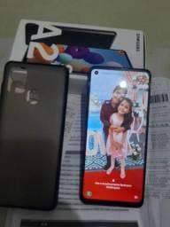Vendo esse lindo Samsung A21s. Com 64gb memória e 4 ram